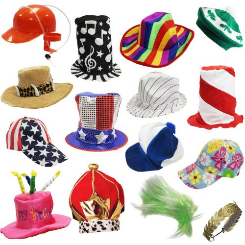 Hats and Headgear 155349  6 Assorted Dress Up Costume And Party Hats By  Funny Party Hats (6 Adult Costume Ha -  BUY IT NOW ONLY   30.5 on eBay! 5230a64e84cd