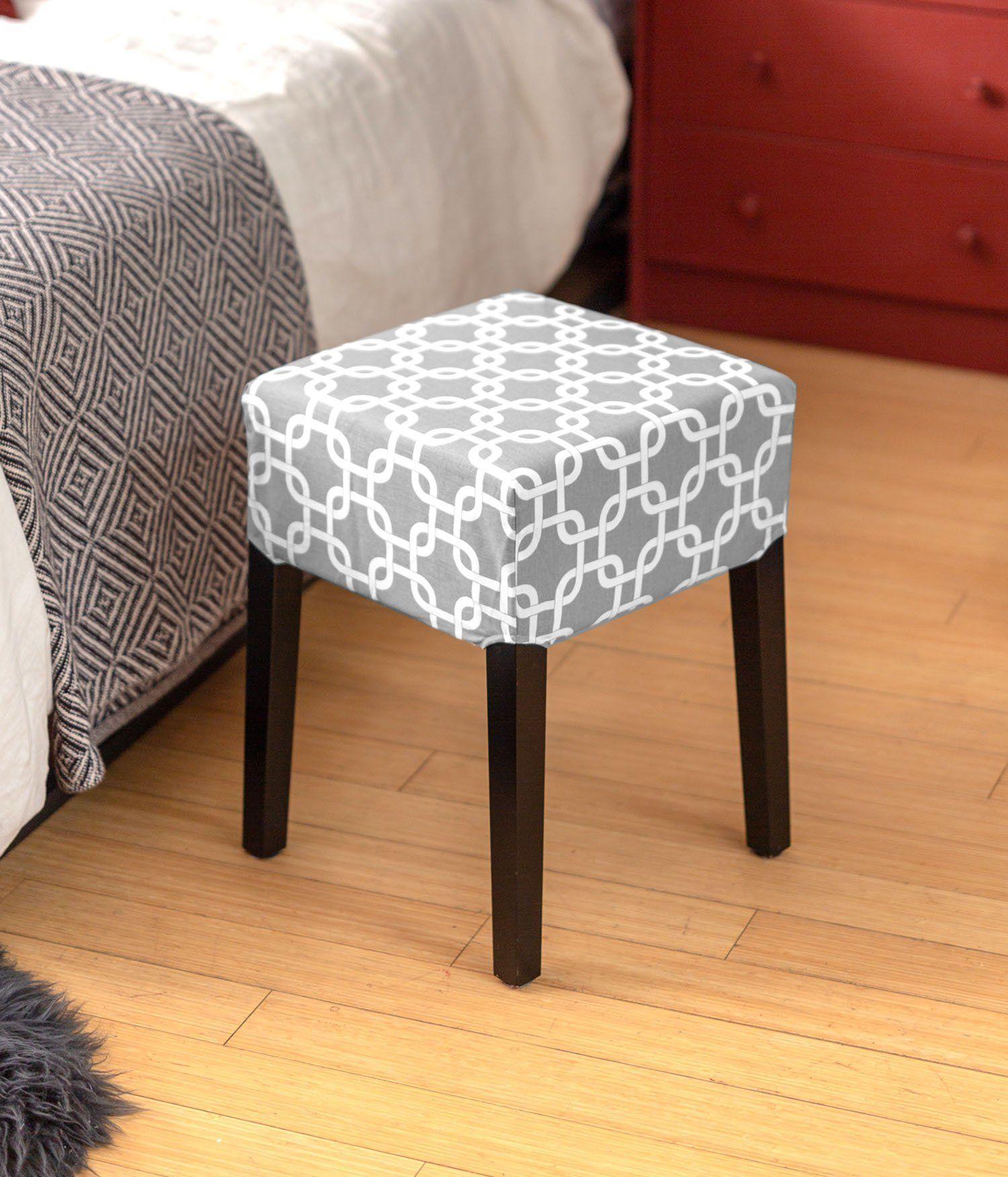 Astounding Gray Trellis Print Cover For Ikea Nils Stool Ikea Ibusinesslaw Wood Chair Design Ideas Ibusinesslaworg