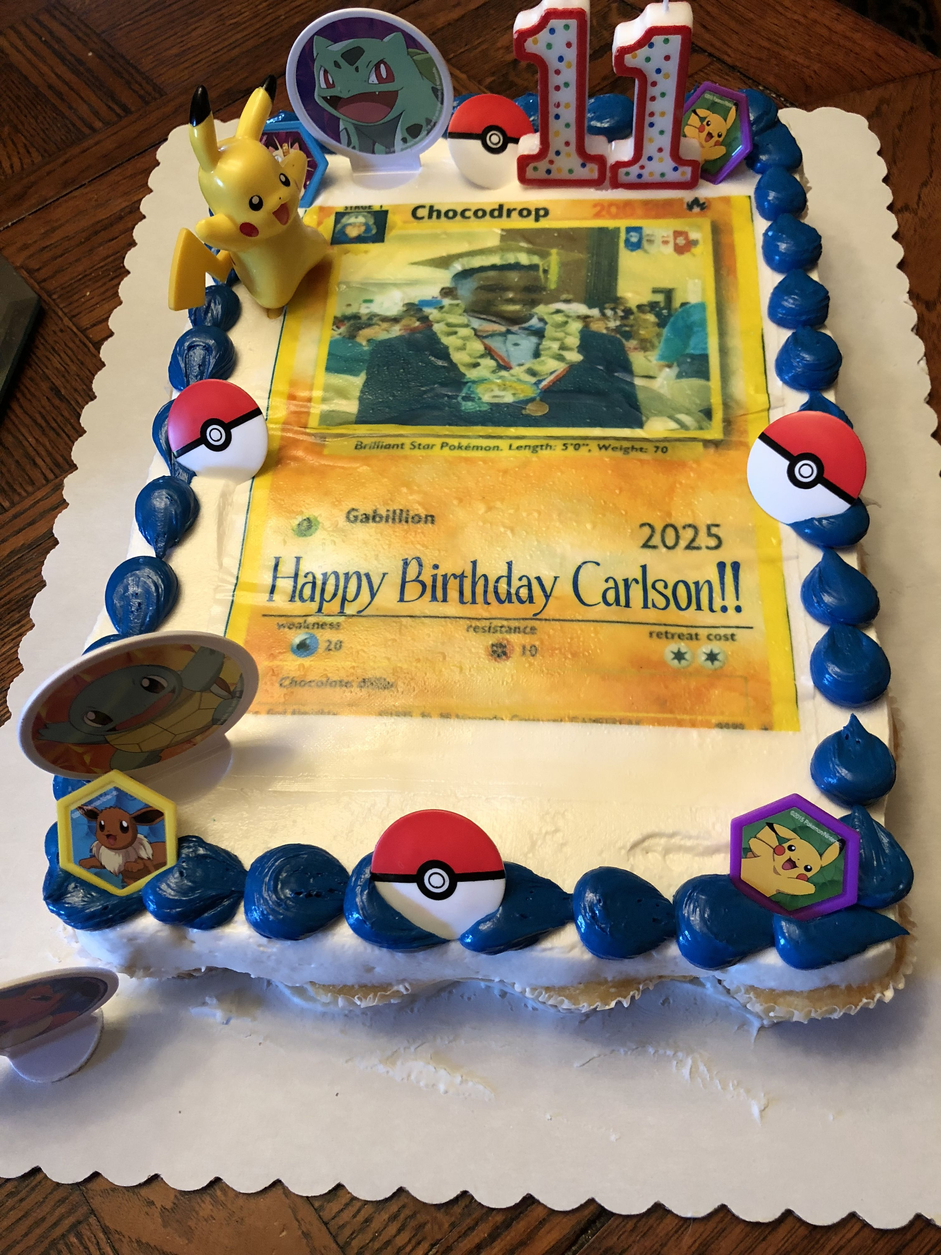 Walmart Cupcake Cake Made Custom Pokemon Card Online