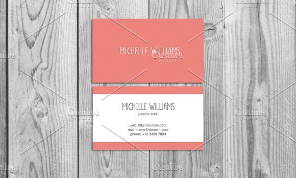 Cute Business Card Template By ZokuDesigns On Creativemarket - Cute business cards templates free