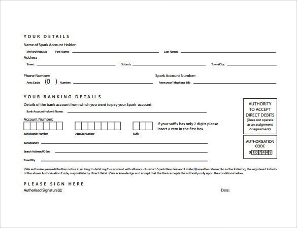 direct debit cancellation letter templates template your bank - direct debit form