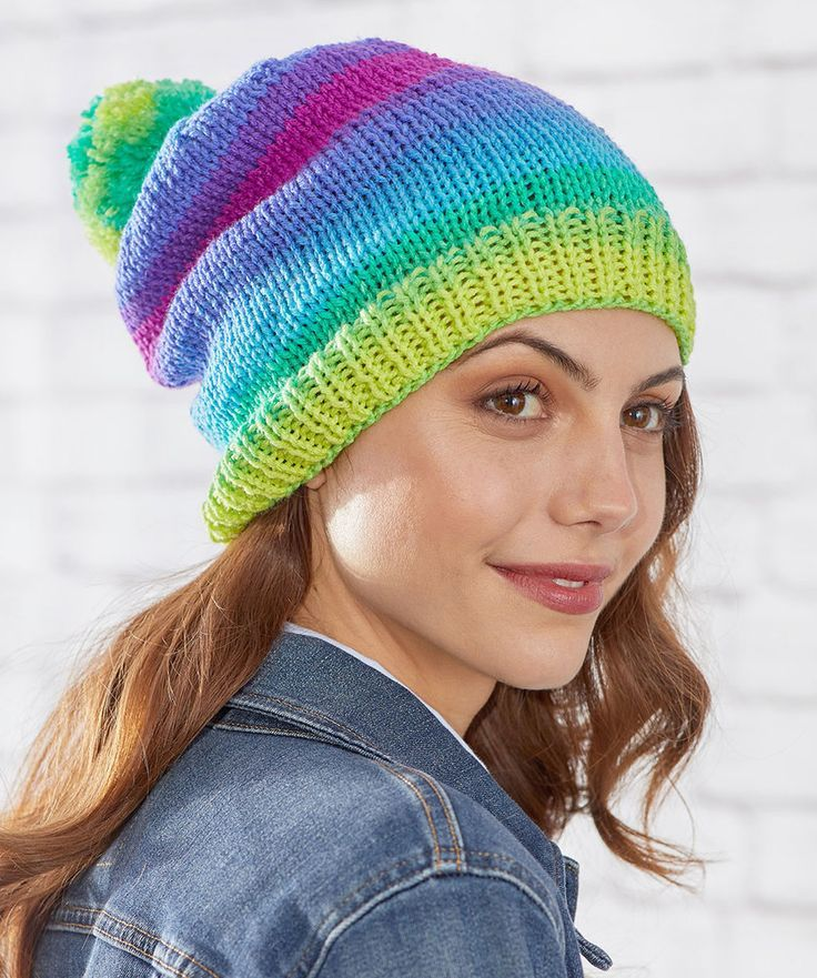 Free Knitting patterns for 3 Easy Stockinette Stitch Hats ...
