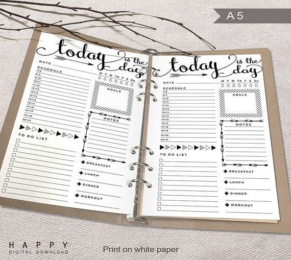 Printable Daily Planner Inserts A Daily Planner Printable A