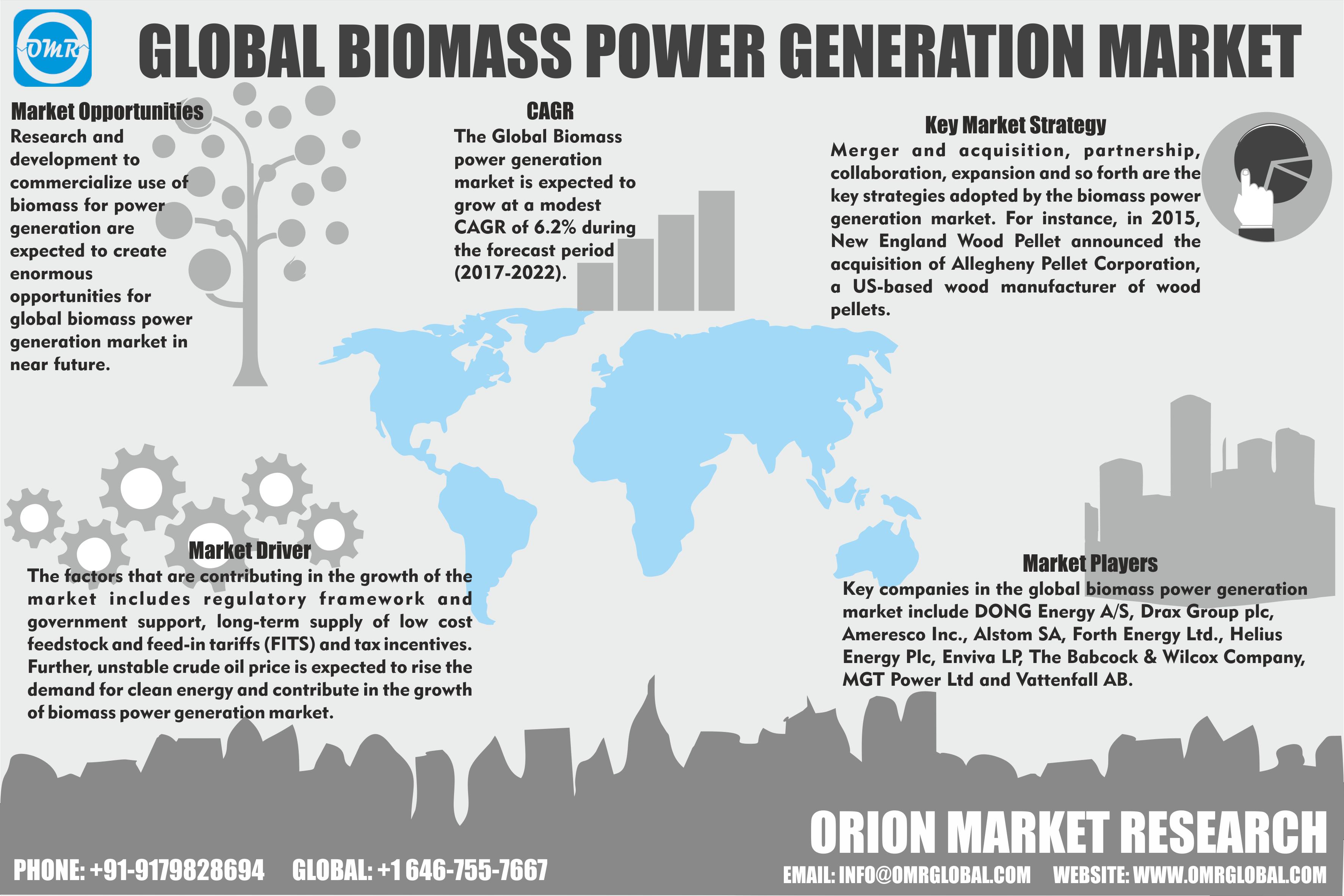Biomass Power Generation Market Forecast To 2022 Marketing Trends Biomass Generation