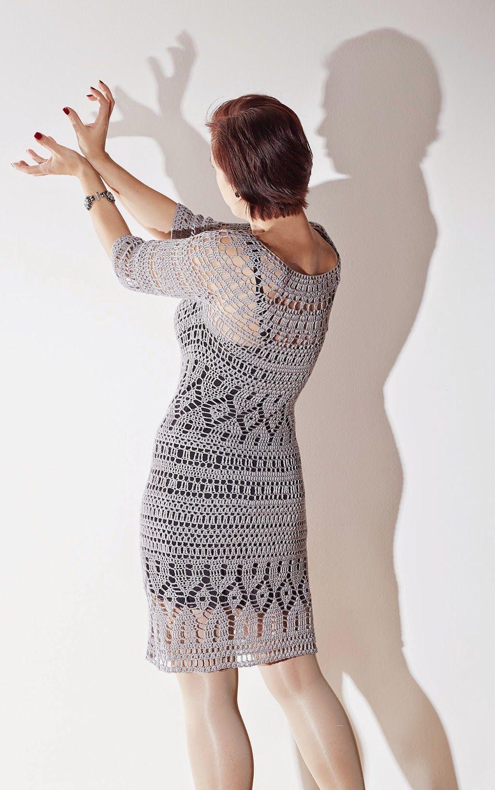Bamboo crochet dress Vivrut Designs