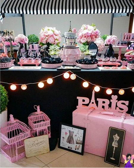 tema paris festa de 15 anos debutante mesas dulces pinterest geburtstag. Black Bedroom Furniture Sets. Home Design Ideas