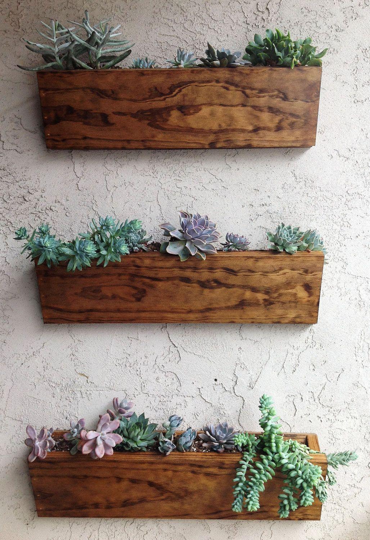 Hanging Planter Box Via Etsy Wall Planters Indoor Vertical