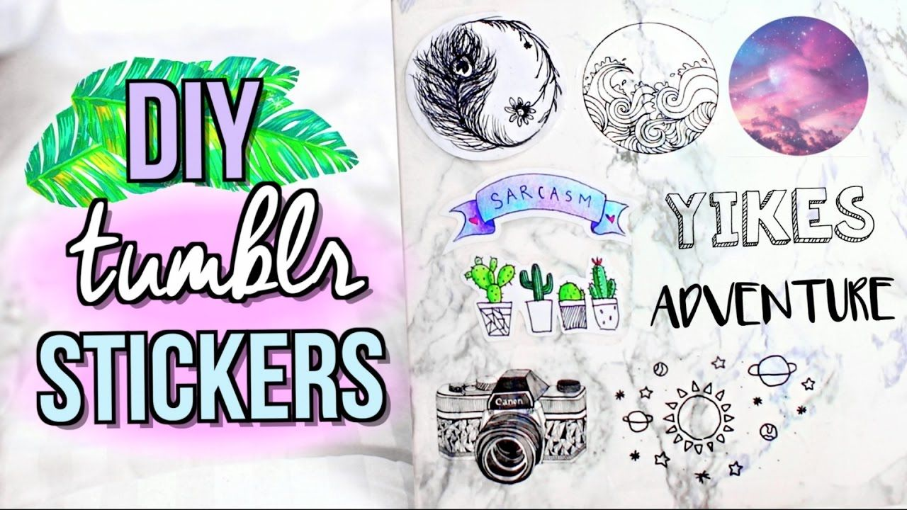 EASY DIY Stickers WITHOUT Using Sticker Paper I'm back ...
