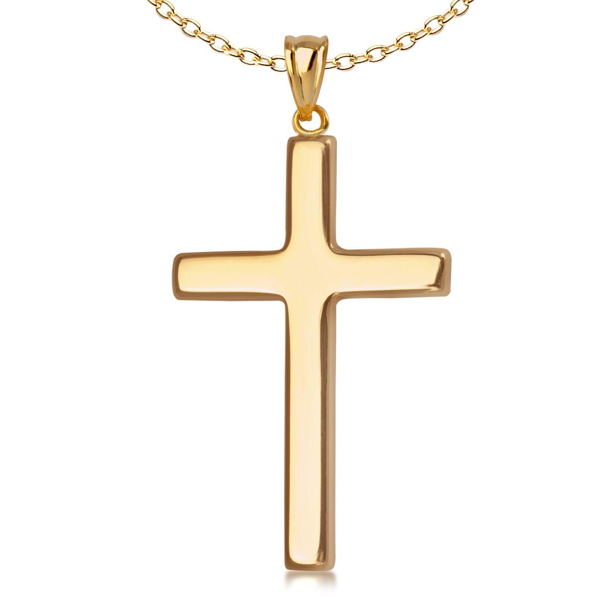 Złota zawieszka w kształcie krzyżyka, 169 PLN  ● www.Bejewel.me/zlota-zawieszka