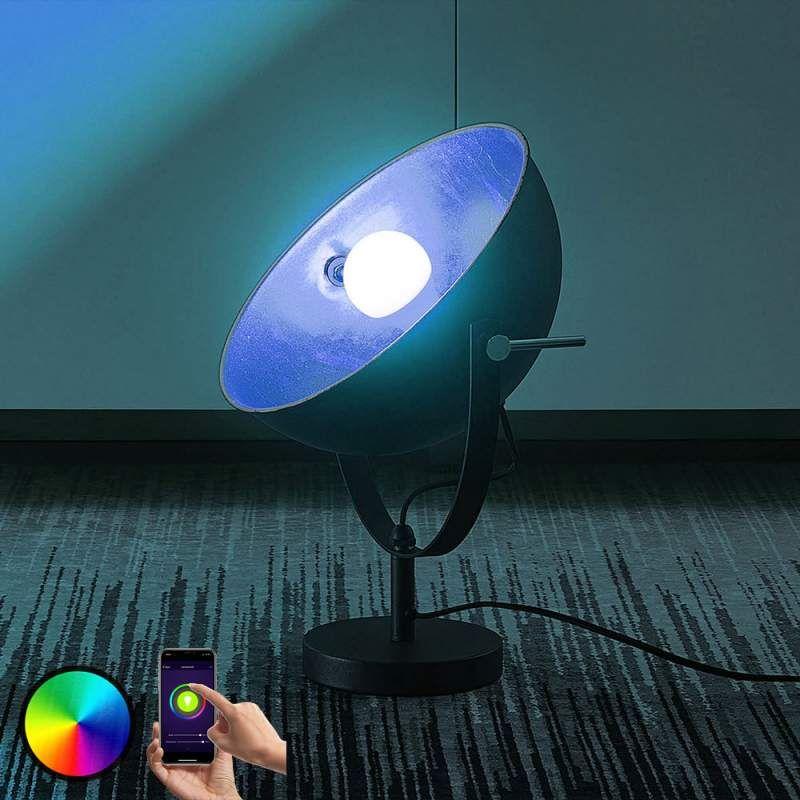 Lindby Smart Led Tafellamp Muriel 44 Cm Zilver Tafellamp Led Led Lamp
