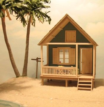 1:48 scale beach house by Anna-Carin