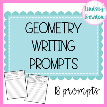 Geometry Writing Prompts Writing prompts, Prompts, Writing