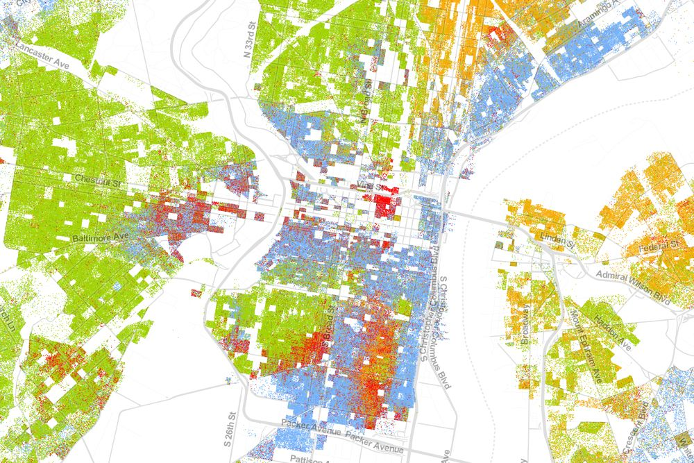 The Best Map Ever Made Of Americas Racial Segregation - Philadelphia capital of us origanal map