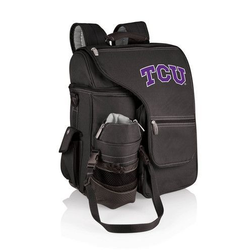 Turismo Cooler Backpack Black Texas Christian