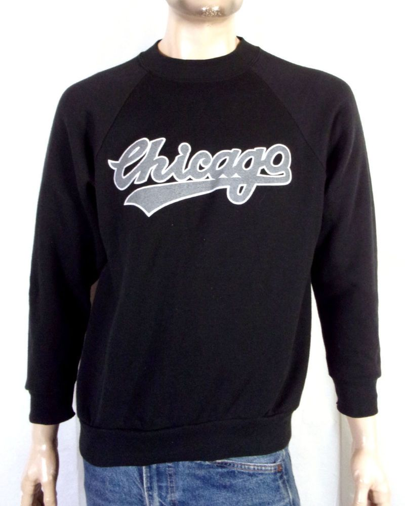 340ca21707bd vtg 80s 90s Chicago Tour Raglan Sweatshirt White Sox Rap Hip Hop NWA Dr. Dre