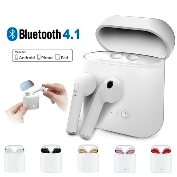 Wireless Bluetooth Earphones I7 I7s Tws Earbuds Headset With Mic For Iphone Xr Xs 6 7 8 Plus Max Universal Bluetooth Stereo Headset Earbuds Bluetooth Earphones