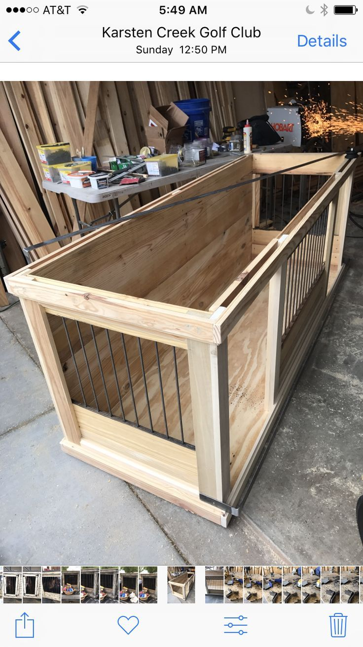 Farmhouse Style Indoor Double Dog Kennel Benjamin Moore