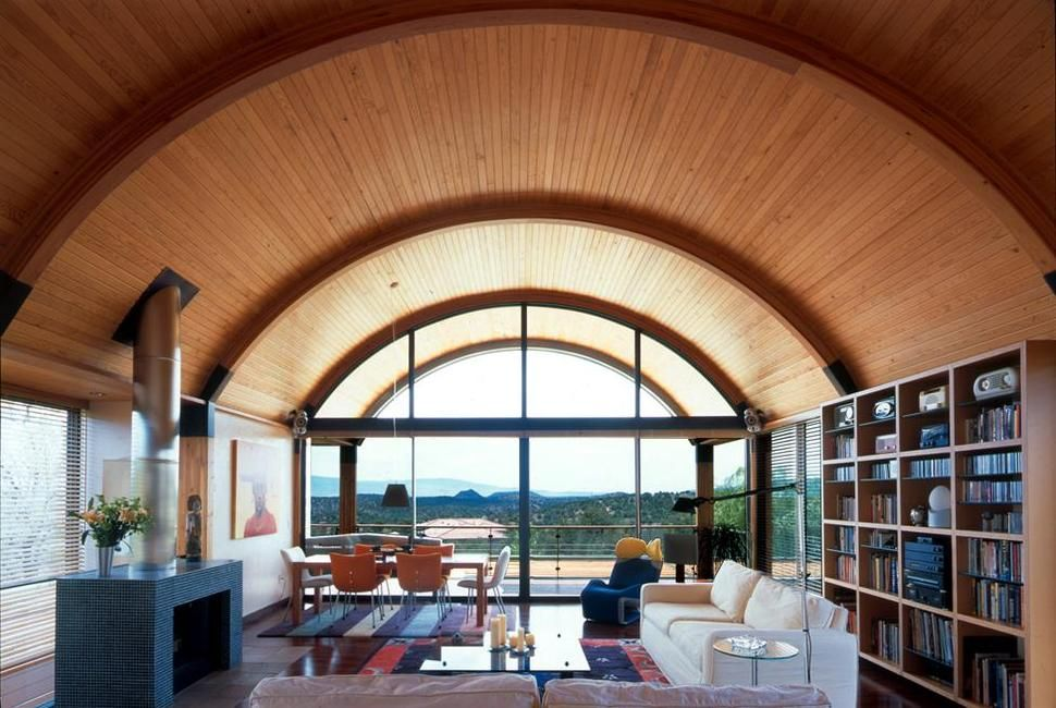 Desert Home With Copper Clad Barrel Roof Quonset Homes