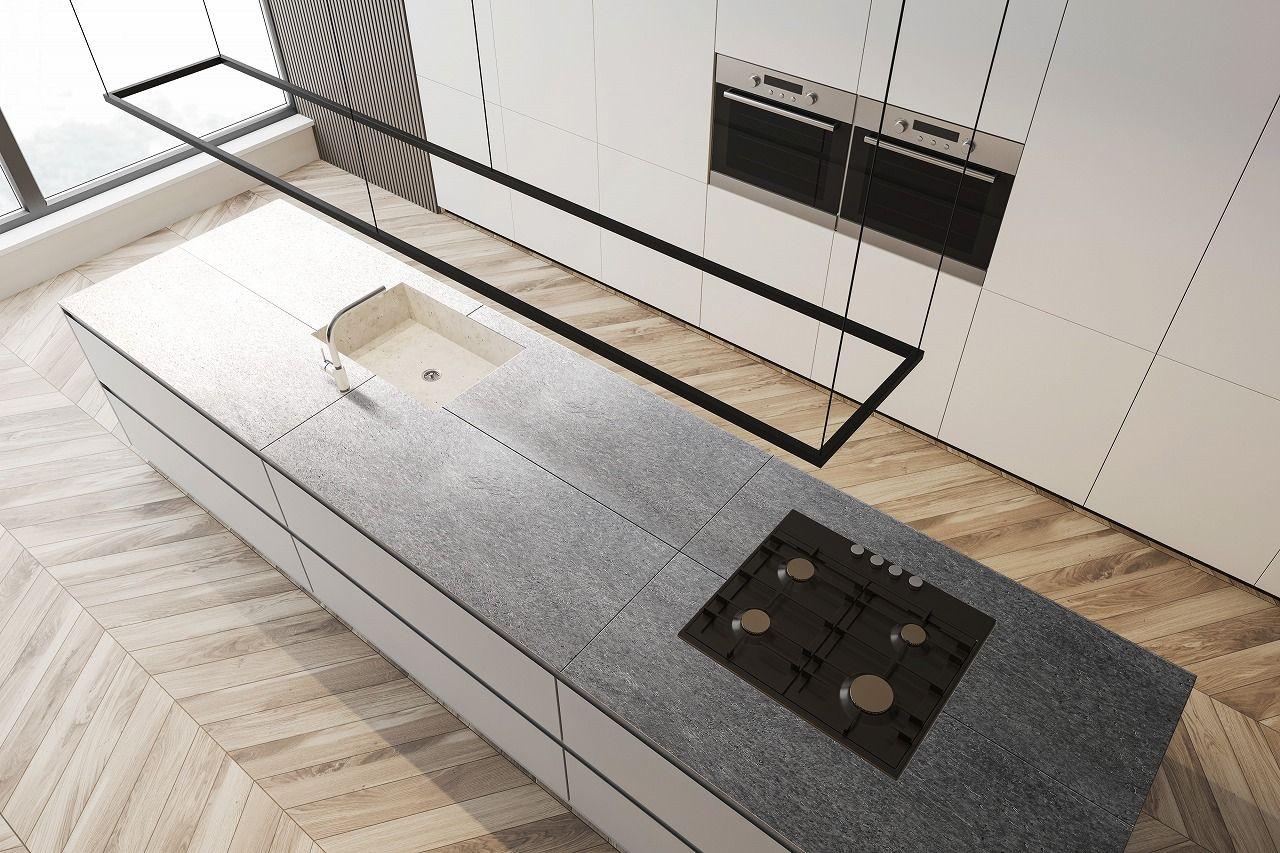 マットで傷が付きにくいキッチン天板 コーディネート例 2020