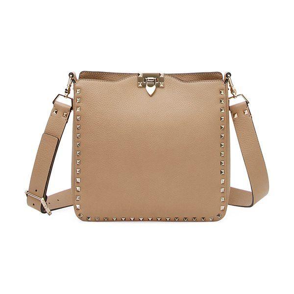 a49f8571e3 Rockstud small vitello leather hobo bag by Valentino  valentino  bags