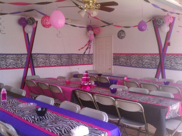 Nice Cheetah Party · Purple Zebra Print Baby Shower Decorations ...