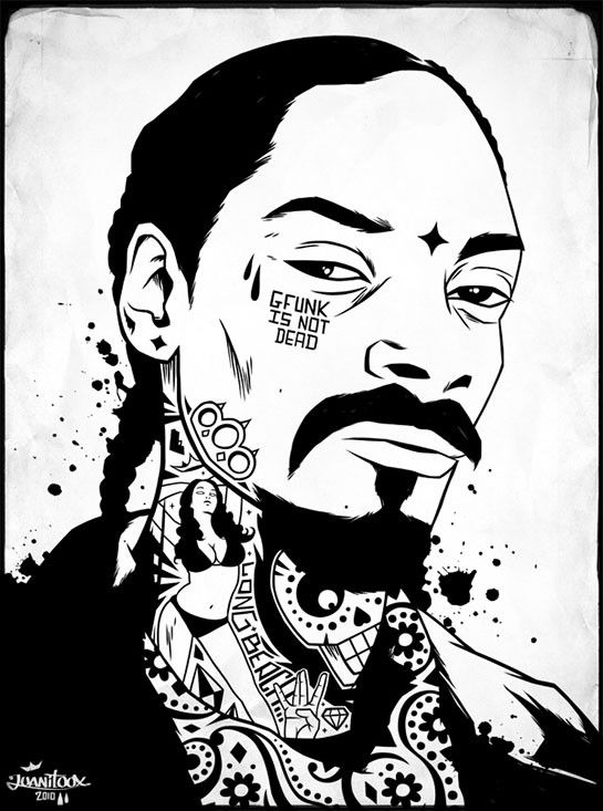 snoop dogg coloring pages | Snoop Dogg/Snoop Lion by Juanitoox in 2019 | Rapper art ...