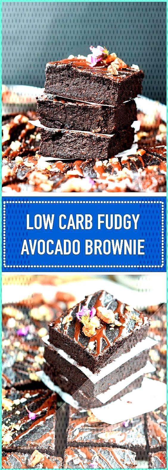 Low Carb Fudgy Avocado Brownies made of avocado are low carb Fudgy Avocado brownies with only 3 5 g