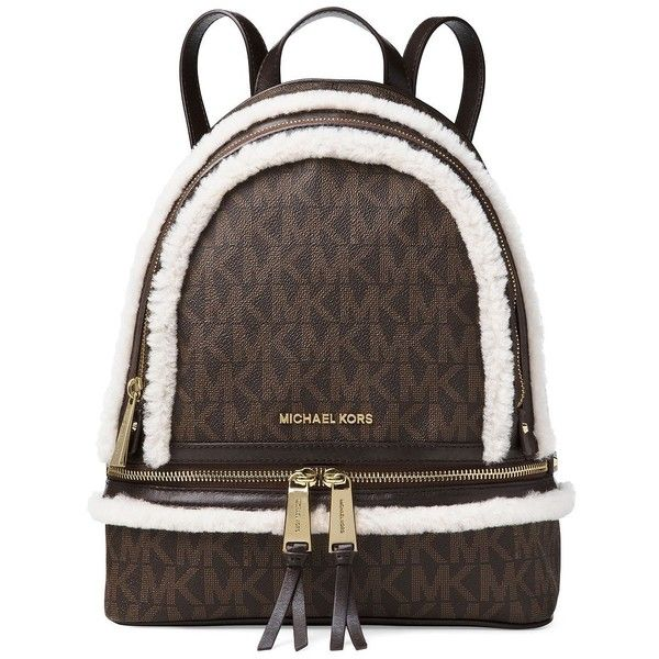 Michael Michael Kors Logo Printed Top Zip Backpack ($328