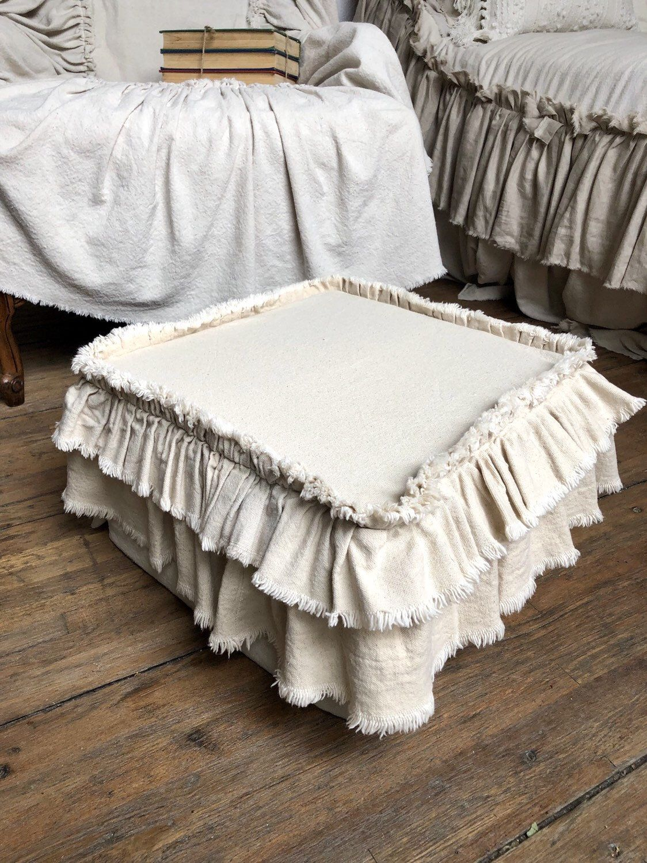 Slip Cover,Cushion,Custom Size,Ottoman Chair Foot Stool