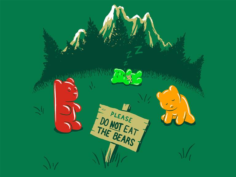 Gummistone Park 19 00 Free Shipping Bear Wallpaper Shirt Woot Jelly Bears