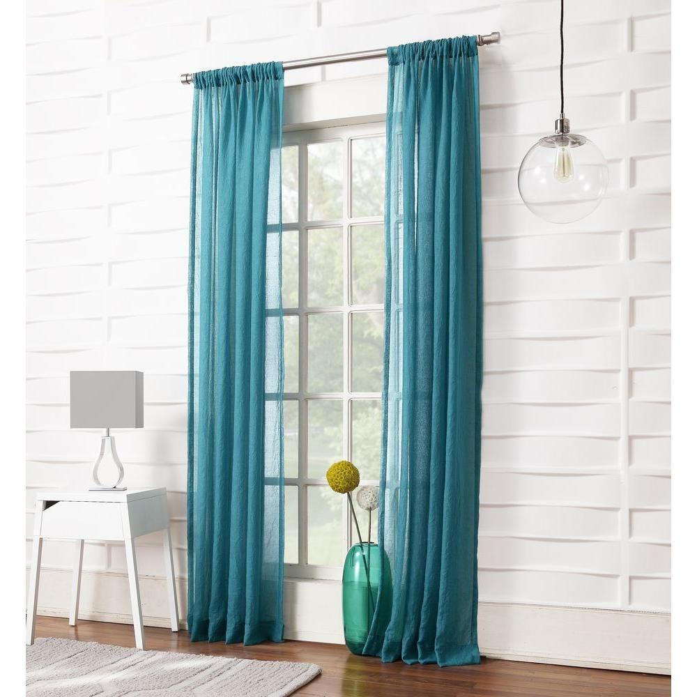 No curtain window ideas  lichtenberg sheer marine no  millennial laguna sheer rod pocket