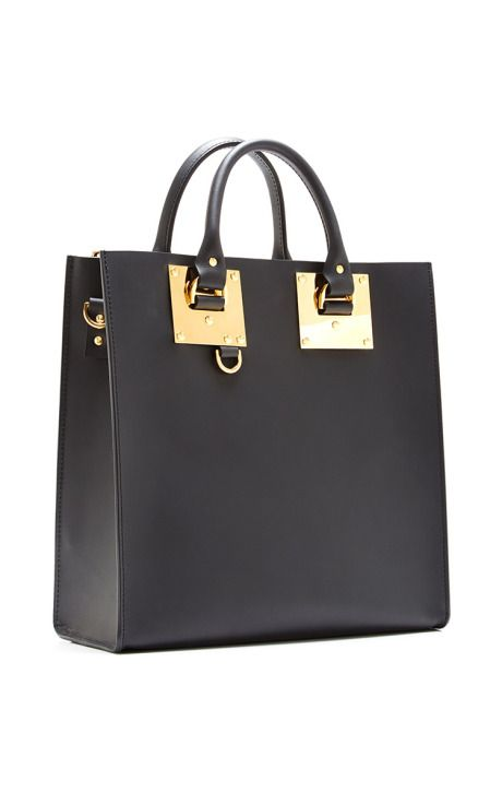 Large black square albion tote bag sophie hulme