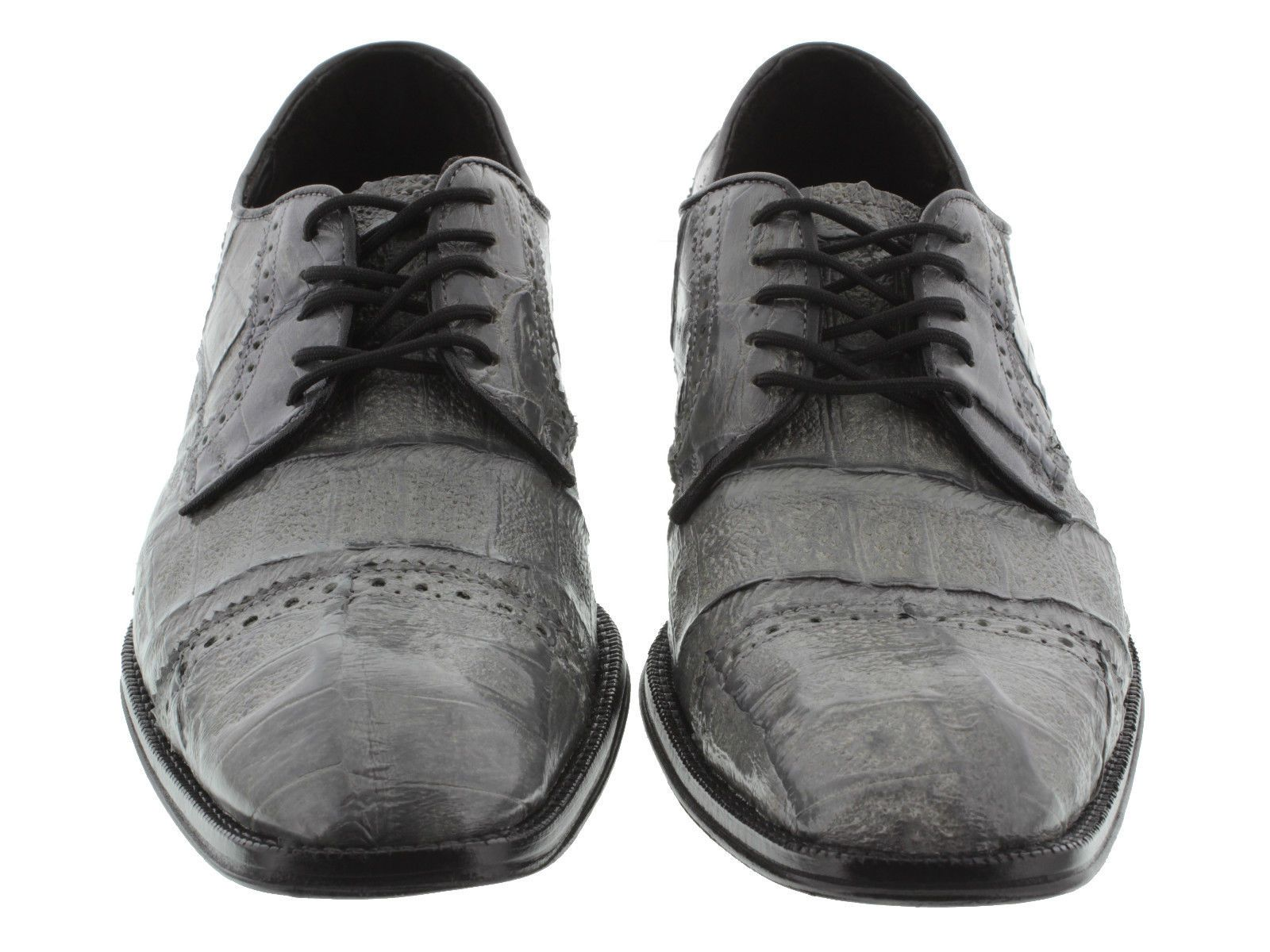 Men s dress shoes gray genuine crocodile alligator skin oxfords loafers  exotic e7ae445f692