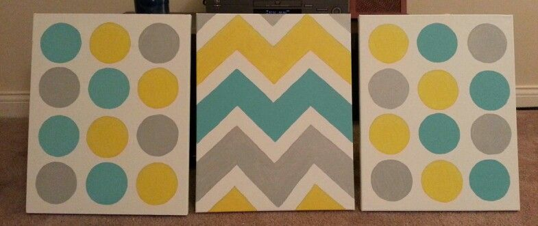 Chevron and polka dots!