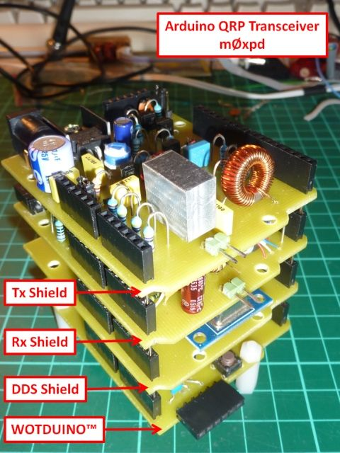 m0xpd's 'Shack Nasties': Arduino QRP Transceiver | Arduino Projects