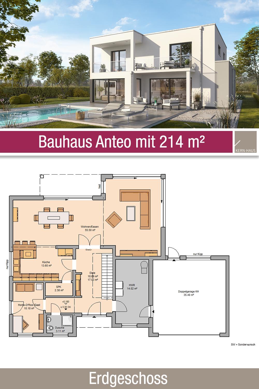 Bauhaus Grundriss 214 m² 5 Zimmer Erdgeschoss