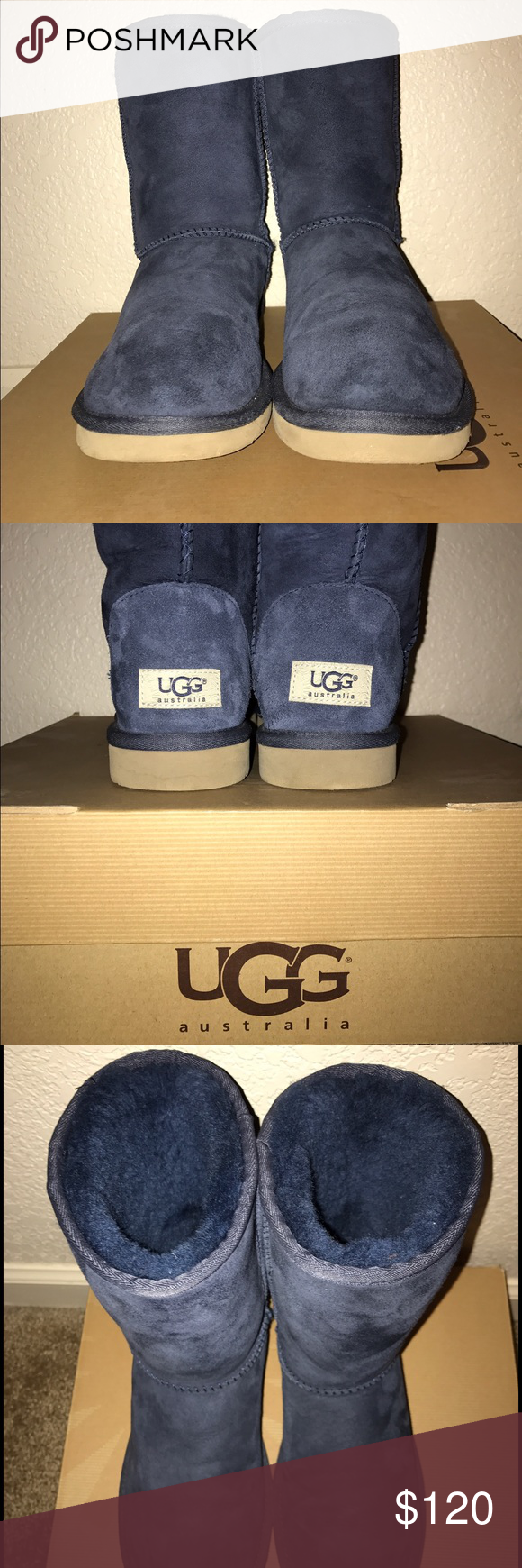 Women's Classic ll Short Uggs (Navy) Brand new Uggs! No tears nor rips. New without tags. Does not come with box. NWOB. UGG Shoes Winter & Rain Boots