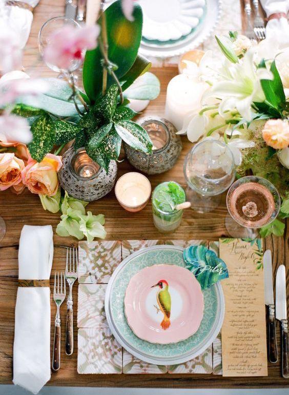 Decoraci n de mesas para fiestas de casamiento mesas for Fiestas ideas originales