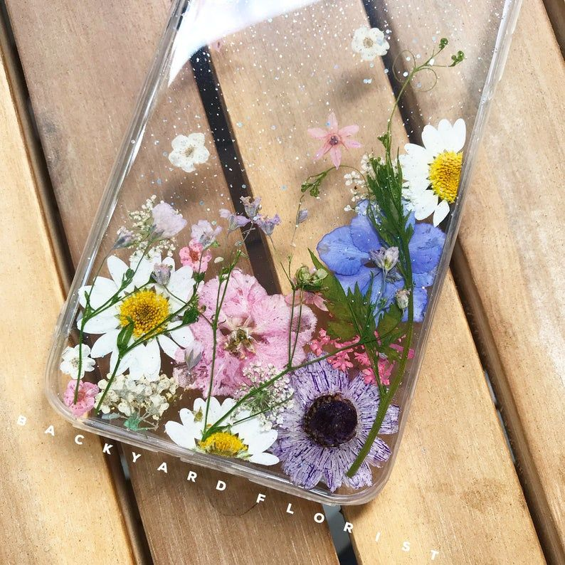 Handmade phone case pressed flower phone case pressed