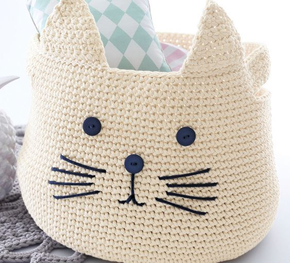 panier chat en tricot