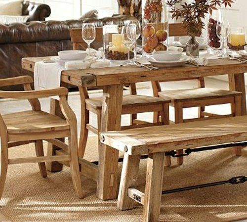 Rustikale Tische rustikale tische aus holz dekoration ideen