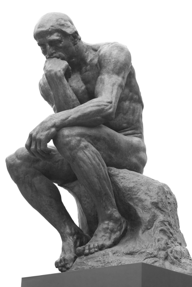 Philosophical Investor 2015 Questions We Will Be Pondering The Thinker Statue Statue Black And White Gif
