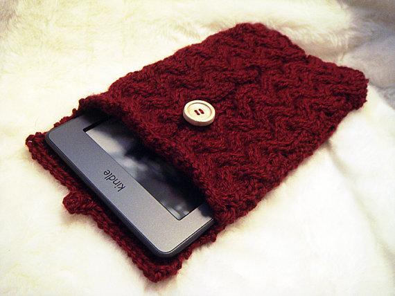 Kindle Fire Sleeve Braid Cover Saxon Sleeve Knitting Pattern