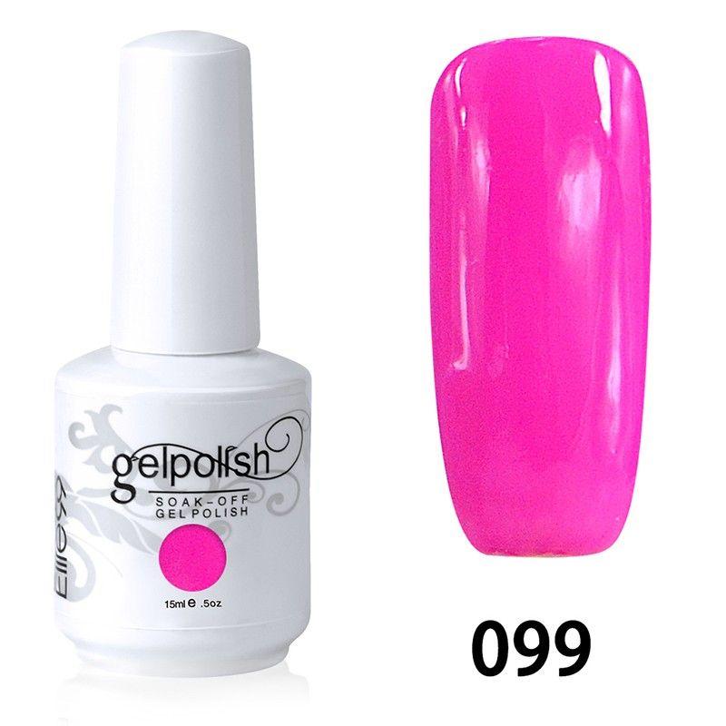 Hot Pink Gel Polish: 15ml Soak Off Nail Art Gel Polish Hot Pink(099)
