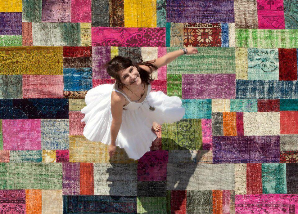 Alfombra patchwork turco alfombras persas antiguas for Alfombras turcas antiguas