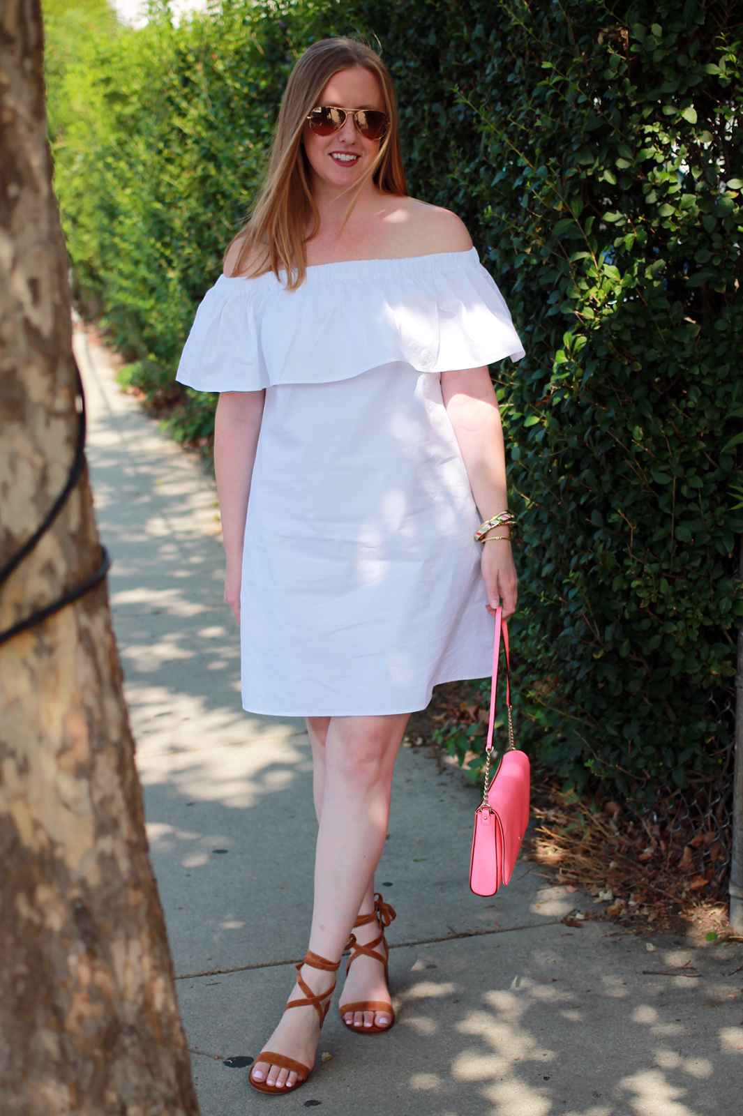 a04b3da81245   White Off-the-Shoulder Dress   fast fashion with SheIn    off-the-shoulder  style    summer dresses under  20