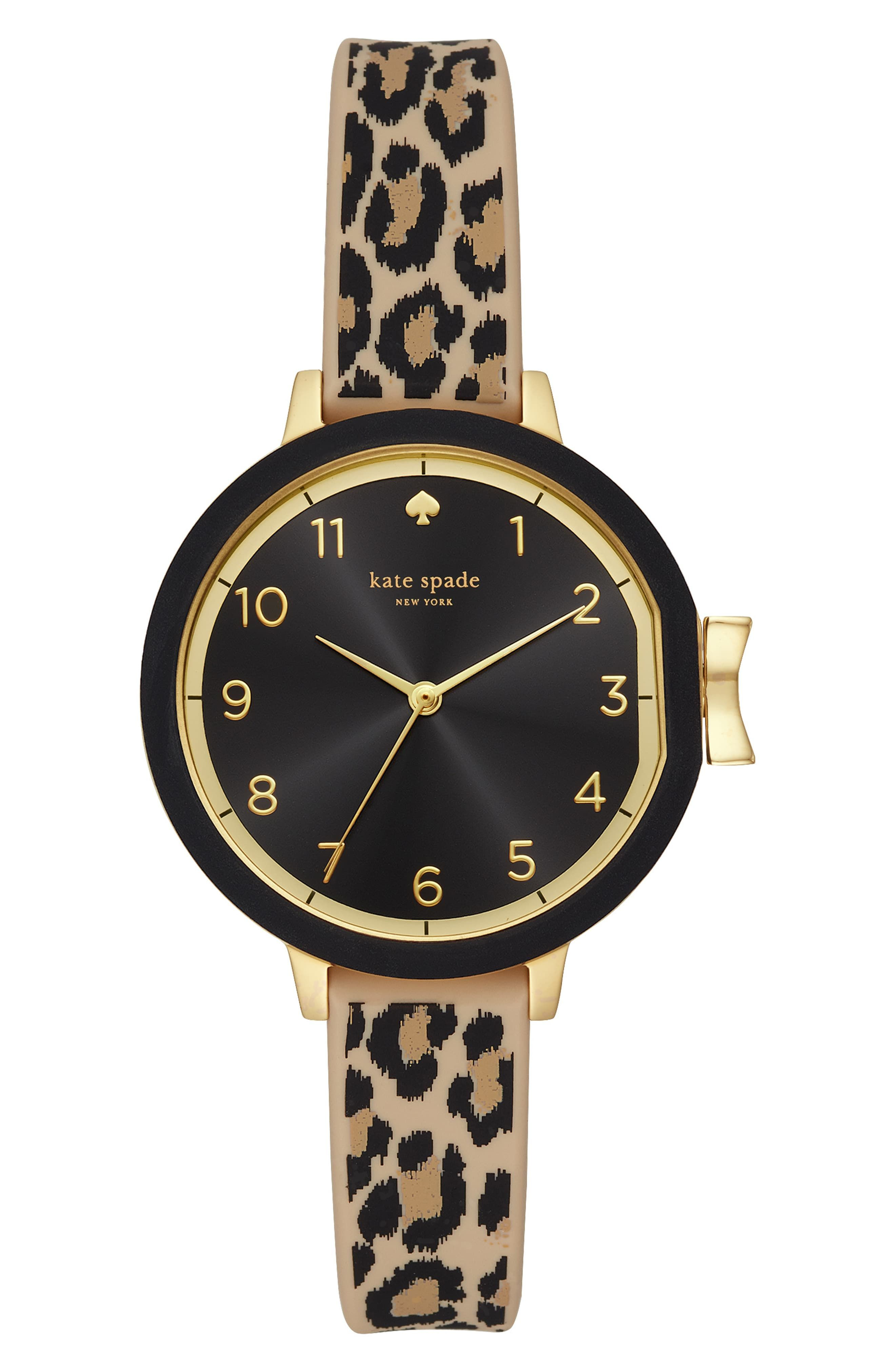 cfaab6bc2 Women's Kate Spade New York Park Row Silicone Strap Watch, 34Mm ...