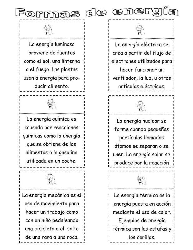 Tema sobre energía imprimibles | Cosas del cole | Pinterest ...