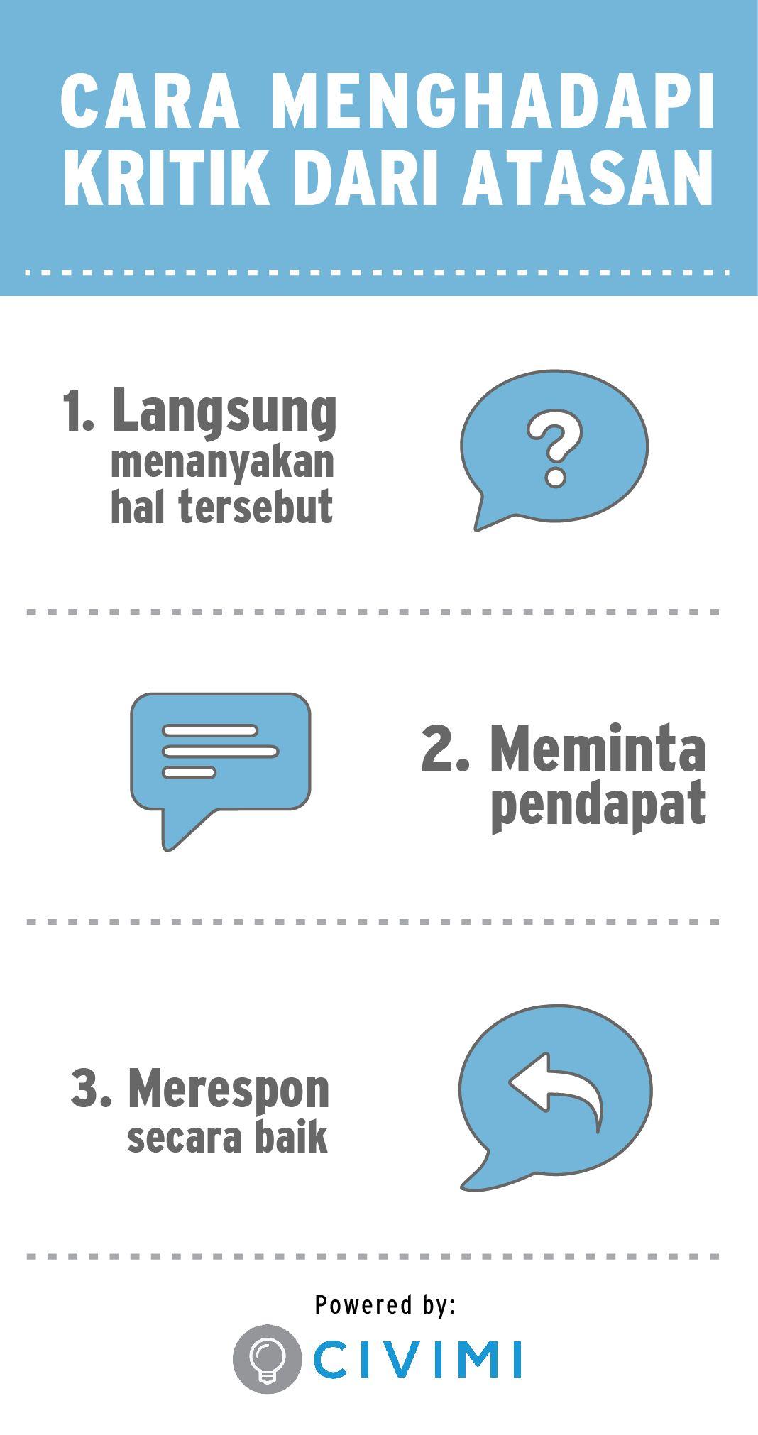 3 Cara Menghadapi Kritik dari Atasan (Infographic