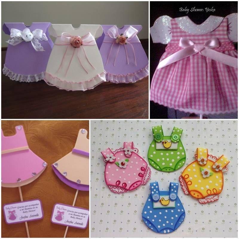 vestidos para baby shower en foami